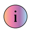 Advice icon a circle with an i for information