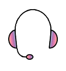 Support icon a headset with microphone